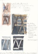 studi per terzarchitettura-strutture diagonali